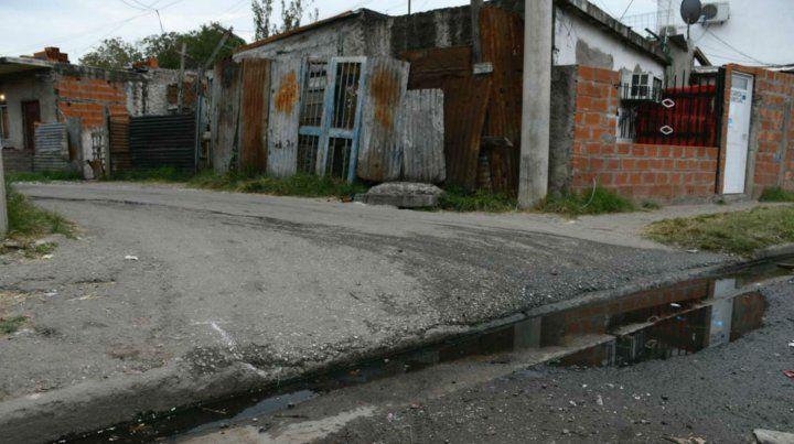 El lugar donde asesinaron a Delia Díaz.