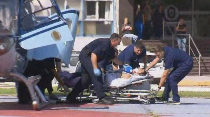 Trasladaron en helicóptero a uno de los policías heridos en el tiroteo de Avellaneda