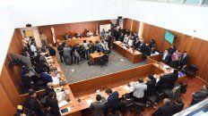 Todos en un lugar. La sala 7 del Centro de Justicia Penal de Rosario, donde se hacen las audiencias.