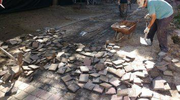 Escenario. Este patio fue testigo de la recuperación democrática de la Facultad, señaló el decano, José Goity.