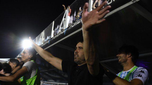 El festejo de Chacho Coudet: Racing es un gran campeón
