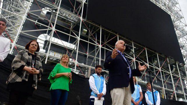 El gobernador recorrió hoy las obras del Museo del Deporte, en la zona sur, que estarán terminadas dentro de 60 días.