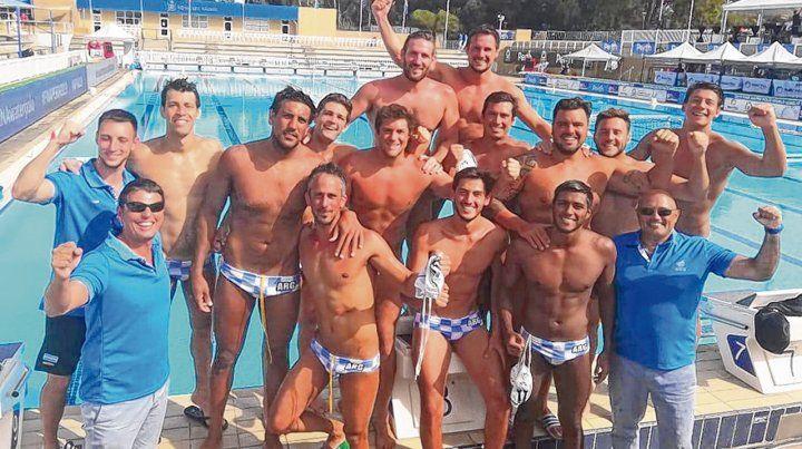 Hay equipo. MEl equipo argentino de waterpolo