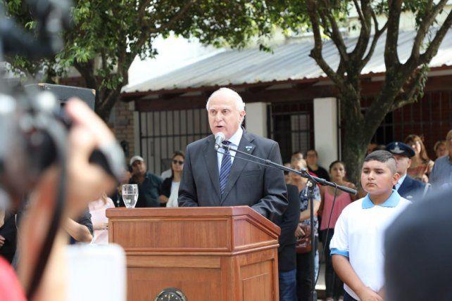 El gobernador Miguel Lifschitz recordó a los héroes de Malvinas en un acto en Reconquista.