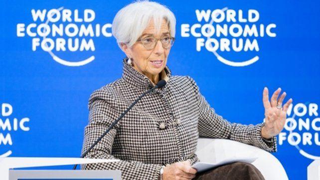 Riesgos.La directora General del Fondo Monetario