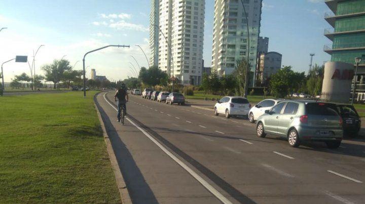 La bicisenda de la avenida de La Costa.