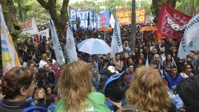 Movilización. Los gremios volverán a salir a la calle en Rosario.