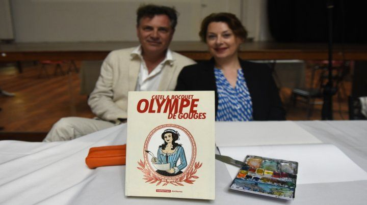 Alianza Francesa. La dibujante y el guinionista presentaron la colección en la que trabajan hace una década.