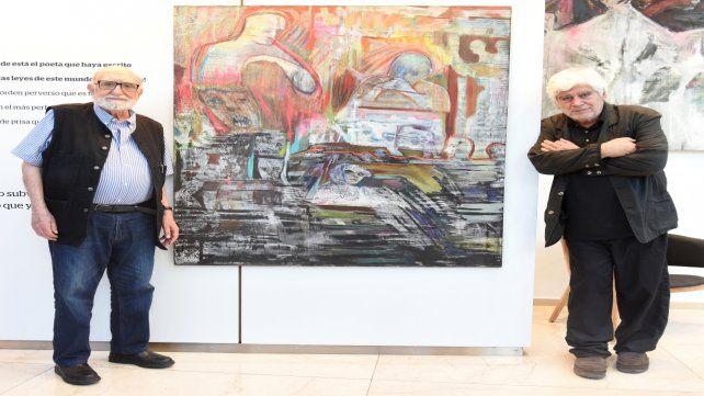 Emblemas. Noé (izquierda) y Zito Lema (derecha) evidencian un diálogo fecundo.