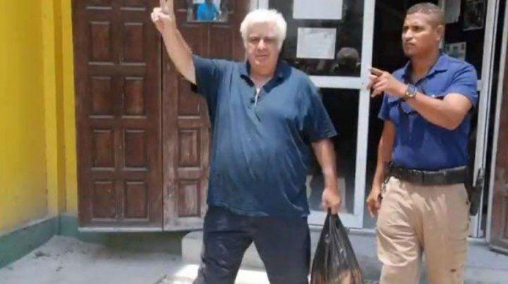 Samid fue trasladado este mediodía desde la estación de policía de San Pedro