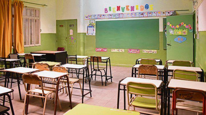 aulas vacías. Este año ya hubo seis días de paro docente.