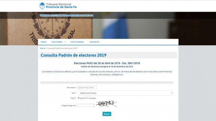 Ya se puede consultar el padrón para las elecciones provinciales