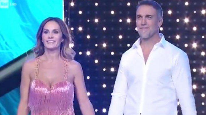Gabriel Batistuta y su esposa Irina brillaron en el Bailando de italia