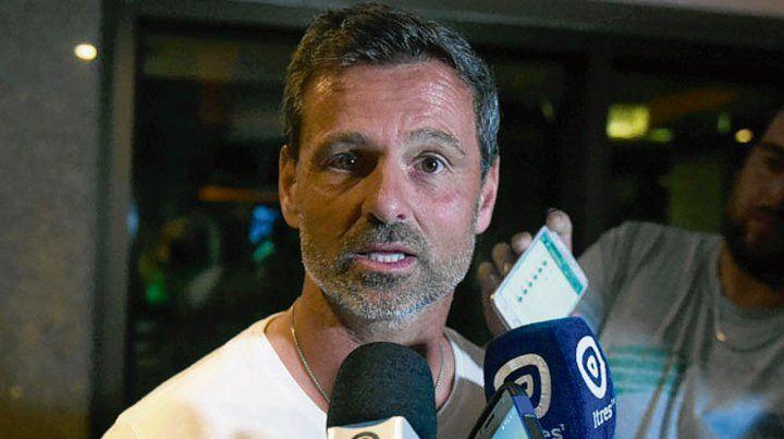 En Brasil. Diego Cocca habló cuando la delegación canalla llegó a Porto Alegre.