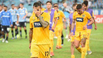 El gesto de desilusión del chaqueño Herrera lo dice todo. Central jugó mal y casi nunca estuvo en partido.