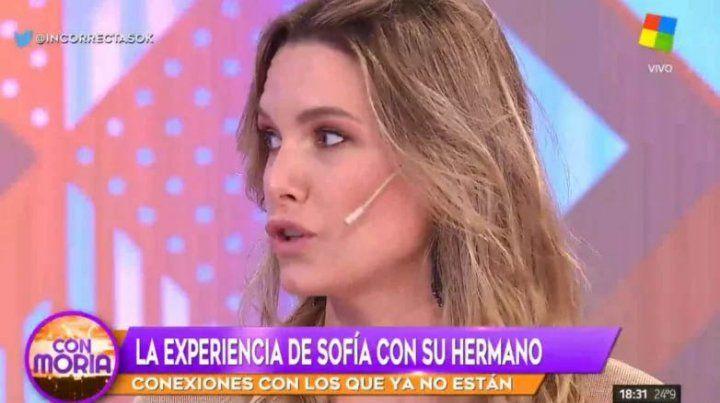 Sofía Zámolo contó la experiencia paranormal con su hermano