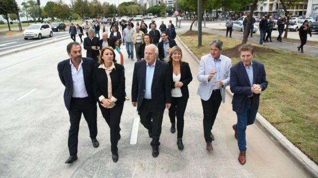Mónica Fein brindó declaraciones a la prensa tras la inauguración de la avenida de La Costa.