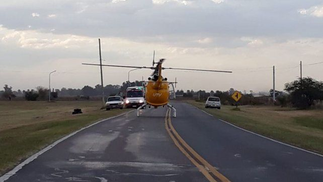 Se cayó de un cuatriciclo y fue trasladada al Heca en helicóptero