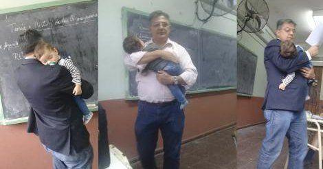 Julio Cruz es un profesor tucumano que da clases desde hace 30 años en la ciudad de Concepción.