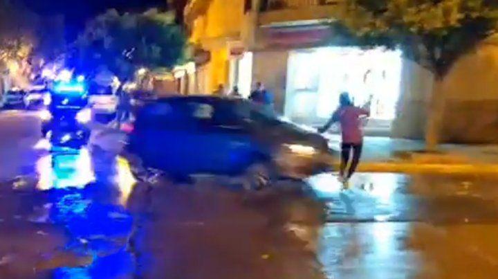 Filmaba después de un choque y transmitió en vivo otro accidente