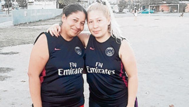 Las hermanas. Micaela y Romina Salvatierra.
