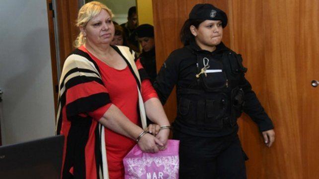 En la audiencia. Mirta Ruñisky es la mujer de Timbúes en cuyo domicilio se hallaron comprimidos de Oxaprost.
