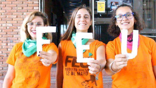 Milena Garnero, Regina González y Sheila Escalada, copresidentas de Ciencia Política.