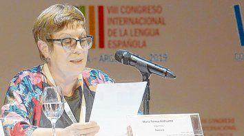La escritora María Teresa Andruetto dio el discurso de cierre del Congreso de la Lengua Española.