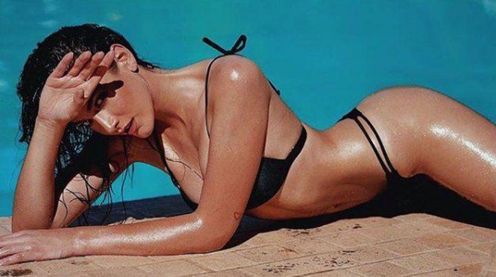 Lucía Pedraza hizo un topless muy jugado y lo compartió en Instagram