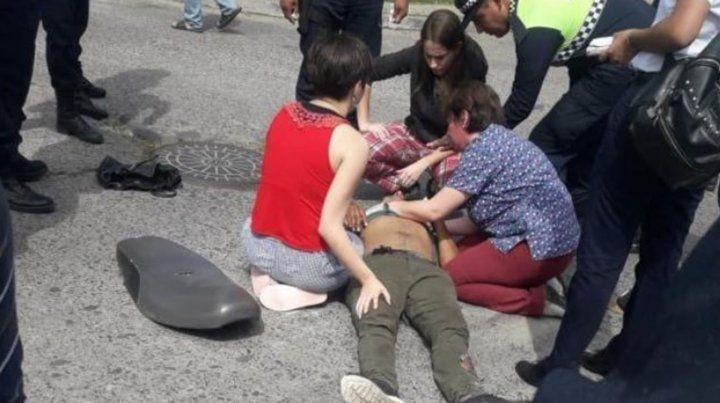 Una médica atendió a un motochorro que la acababa de asaltar
