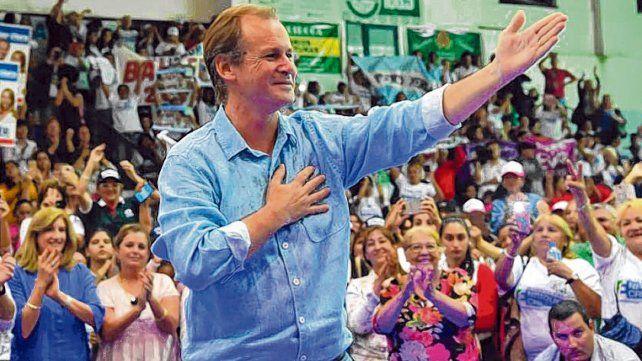 Satisfacción. Gustavo Bordet aseguró anoche que Creer Entre Ríos cosechaba el 55 por ciento de los votos.