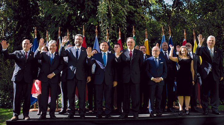 unidad. Los cancilleres de las principales naciones americanas presionaron al gobierno chavista.