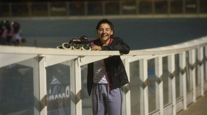 Naiara Sagasti. Tiene 15 años y es la mejor en patín carrera.