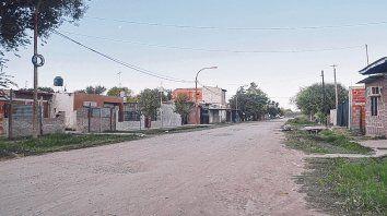 Escenario. Suipacha y avenida Filippini, donde residía Juan Osvaldo Fernández, a quien mataron de un tiro.