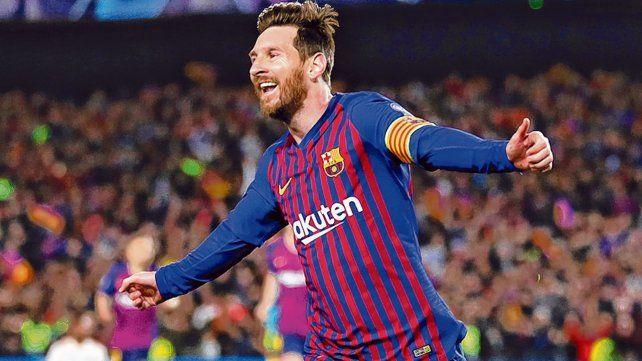 Felicidad. Messi llevó a Barcelona a una semi después de 4 años. Ahora espera a Liverpool o Porto.