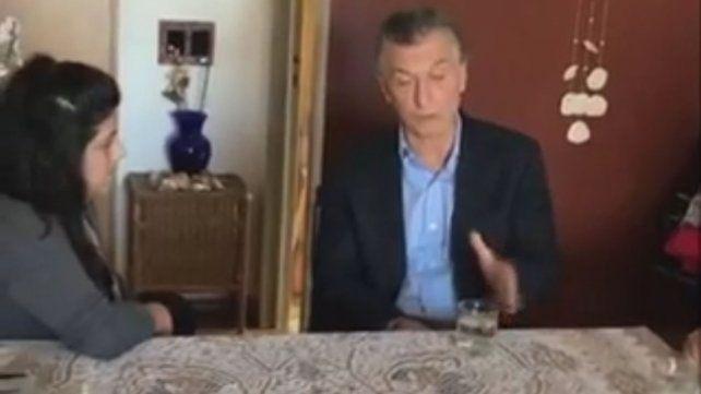 Macri anunció las medidas con un insólito video