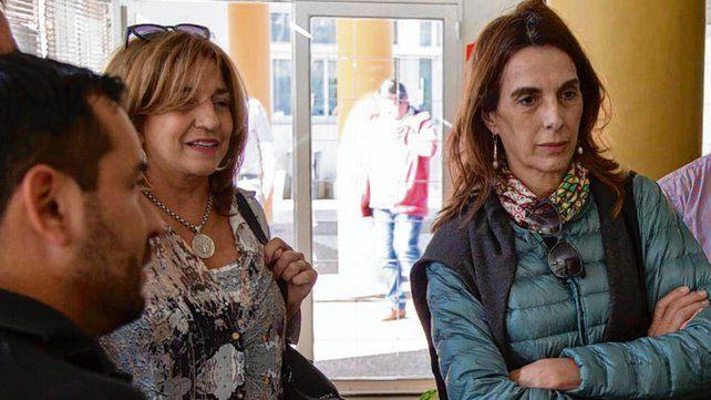 Frana junto a María Eugenia Bielsa