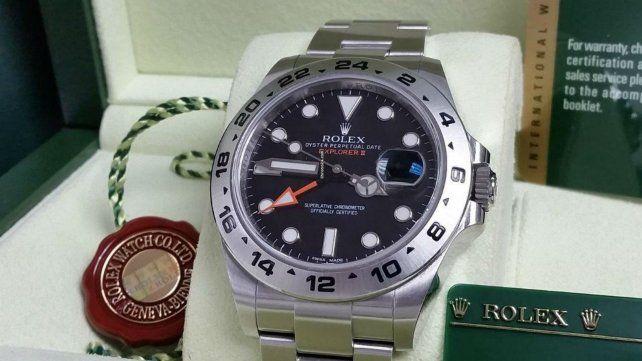 Este es el modelo de reloj que fue recuperado.