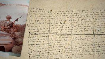 recibio una carta de su hijo, desde malvinas, 37 anos despues