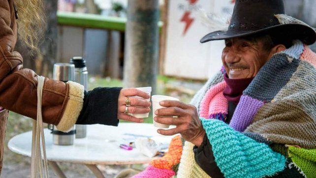 Cercanía. Los Desayunos Solidarios se realizan en distintas zonas.