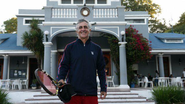 En casa. El ex tenista buscará hacer de la institución de la zona norte una potencia del tenis local.