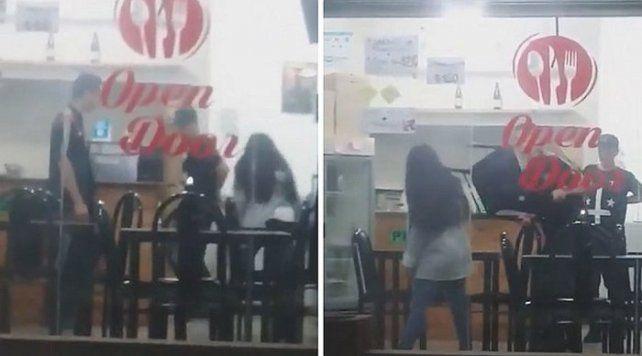 Una mujer se peleó con su novio y lo acuchilló delante de su familia