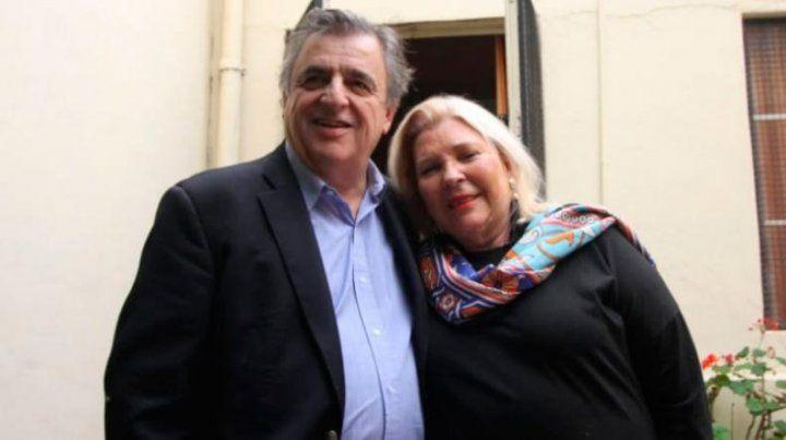 Lilita Carrió con Mario Negri