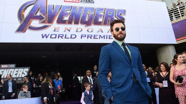 Chris Evans. El actor que da vida al Capitán América posa en la premiere.
