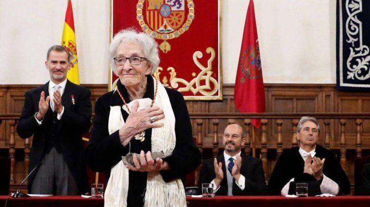 La uruguaya Ida Vitale recibió el Cervantes