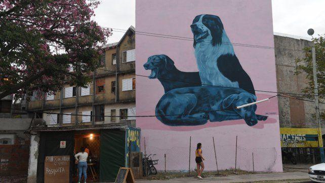 Obras de artistas rosarinos en una galería urbana a cielo abierto