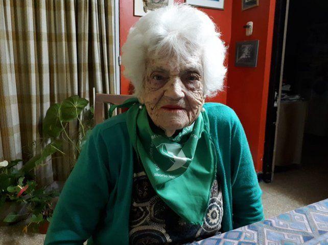 Tiene 105 años y la convocaron como autoridad de mesa