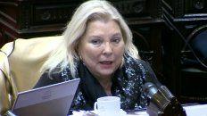 La diputada de Cambiemos, Elisa Carrió, habló en la Cámara baja.
