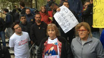Protesta de familiares de taxistas asesinados