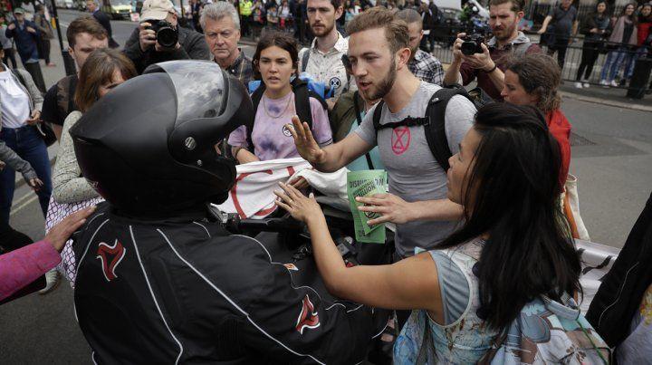 Activistas se manifestaron contra el cambio climático en Londres